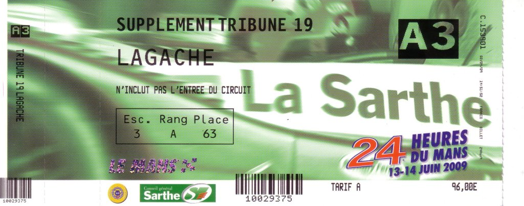 Le Mans 2009: Supplement Tribune 19